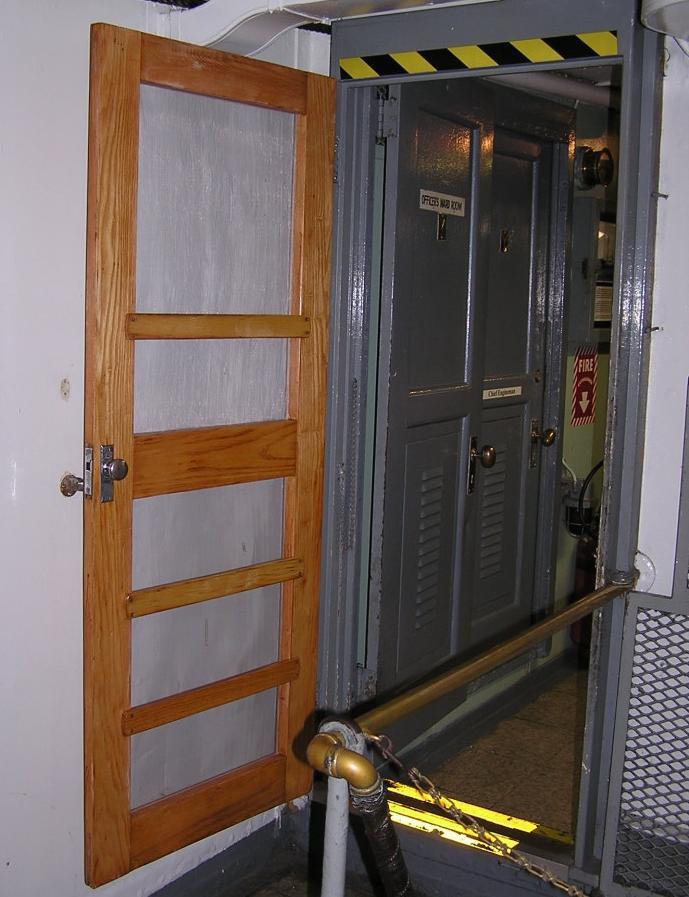 Wardroom screen door - After - 2008