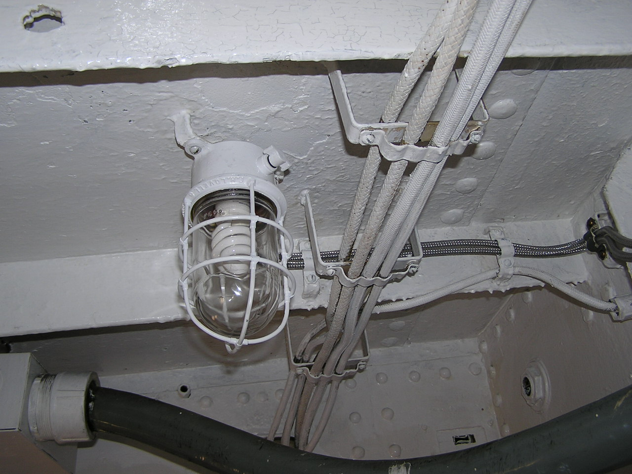 Light Fixture in RADAR Transmitter Room - June 2010