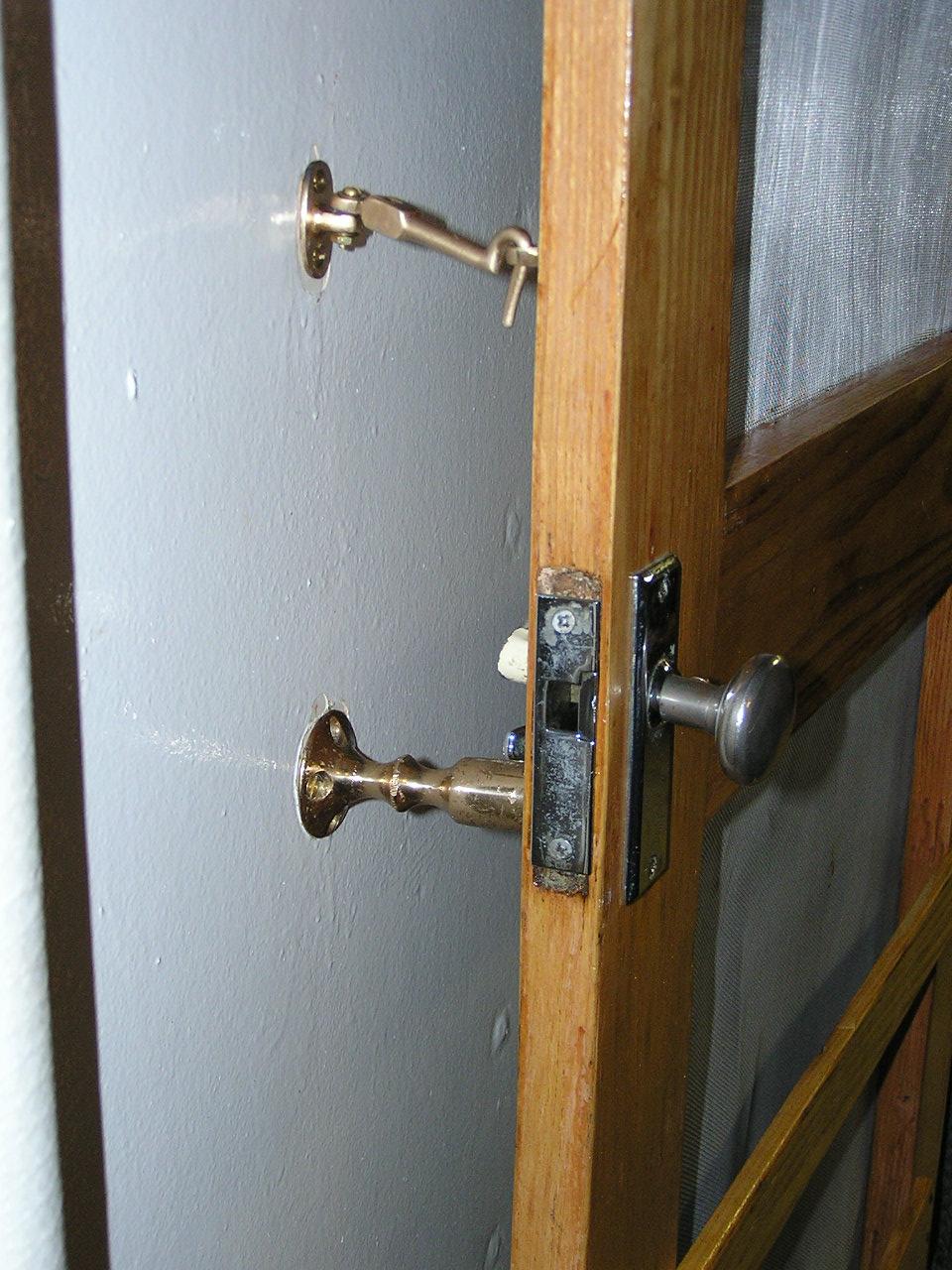 Wardroom screen door - After - 2010