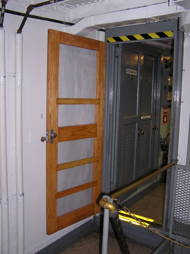 Screen Door Entrance to the Wardroom