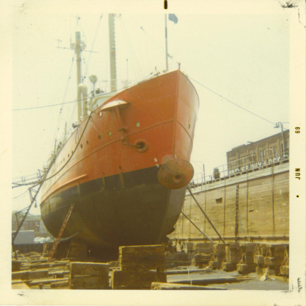 The ship In Drydock
